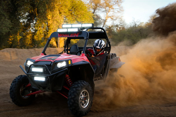 Whelen Contiuum lighting on an off-road vehicle